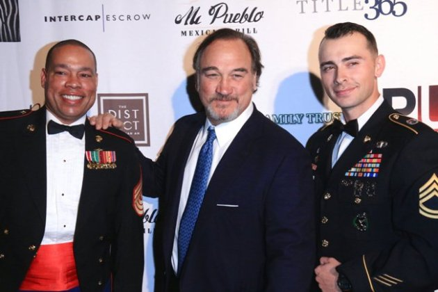 Jim Belushi with Honored Veterans at Veterans Holiday Celebration