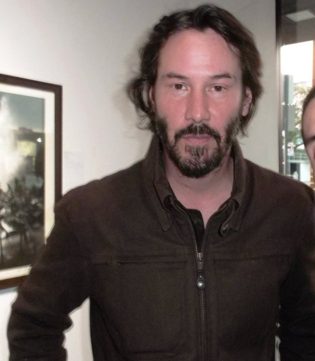 Keanu Reeves at Art for Animals Event