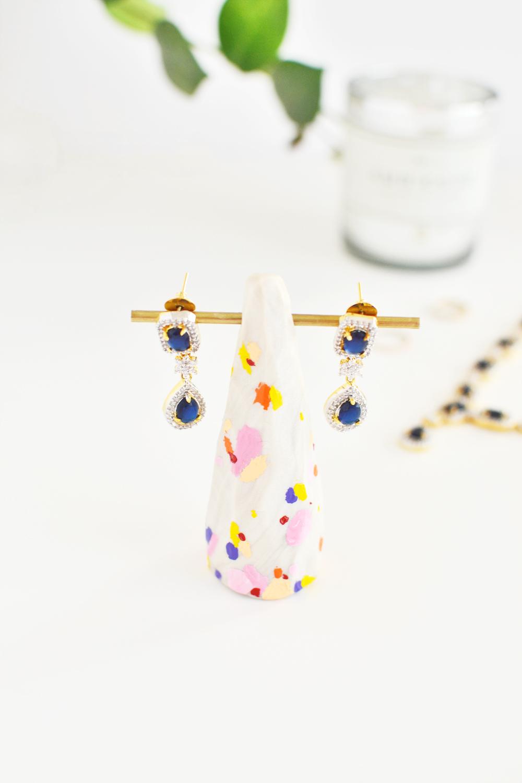 DIY Polka Dot Clay Dangle Earrings