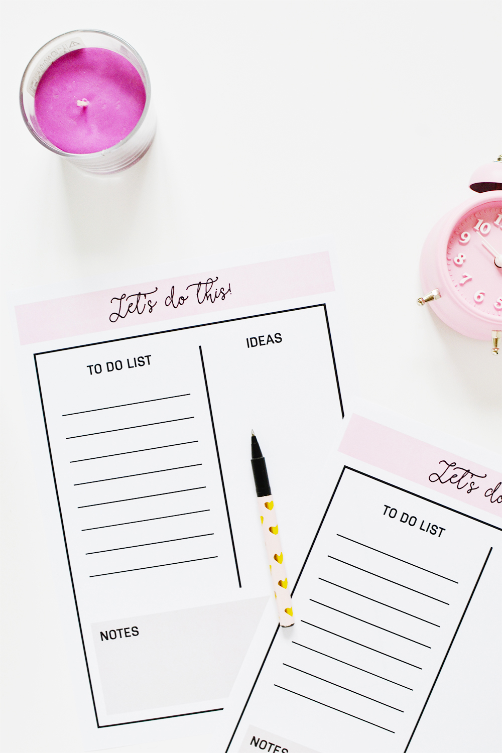 Free Weekly Planner Printable-Let's do this