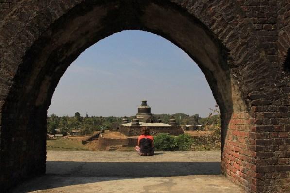 La vue depuis la Paya Shittaung.
