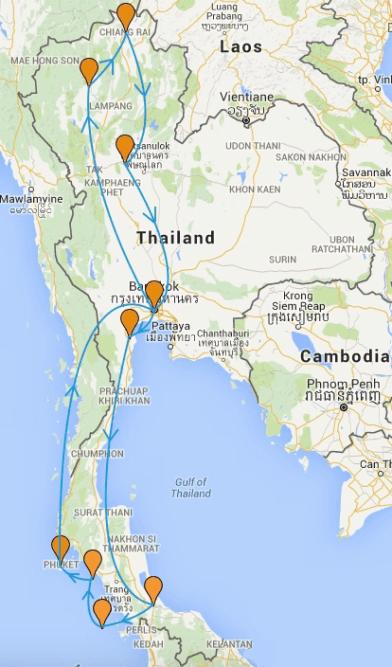 carte-itineraire-thailande