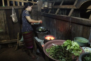 Cuisine locale au homestay.