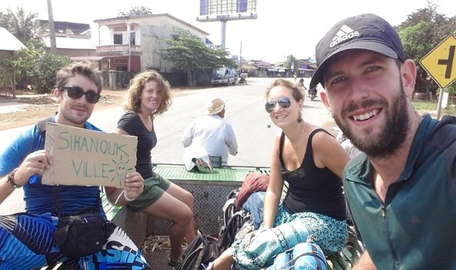 Première expérience en stop au Cambodge!
