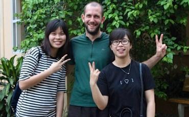 Les étudiantes Chang et Hien