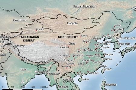 map gobi desert