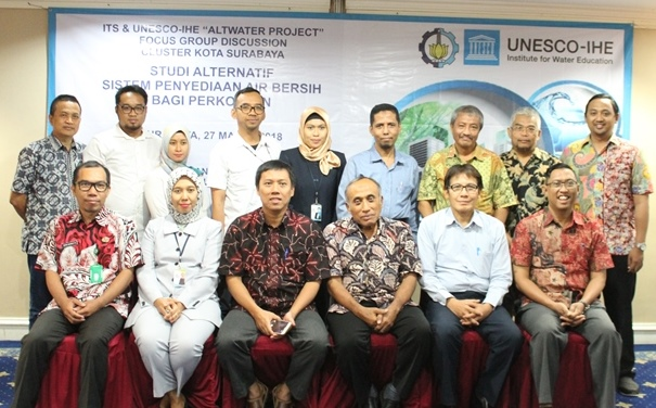 """FGD ITS – UNESCO IHE """"ALTWATER PROJECT"""" Cluster Surabaya"""