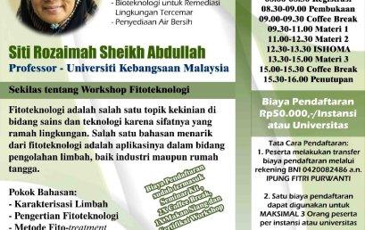 "Workshop ""Fitoteknologi-Riset Terkini dan Prospek Masa Depan"""