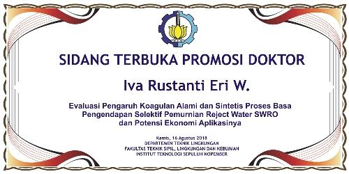 Sidang Terbuka Promosi Doktor Iva Rustanti Eri W.