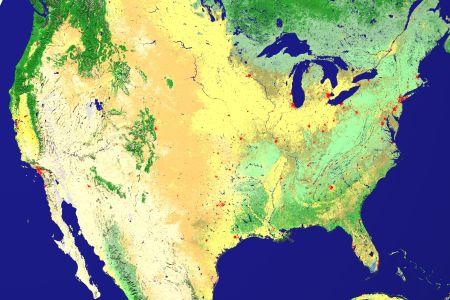 satellite map of united states