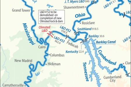Map Of The Inland Waterways - Us inland waterways map