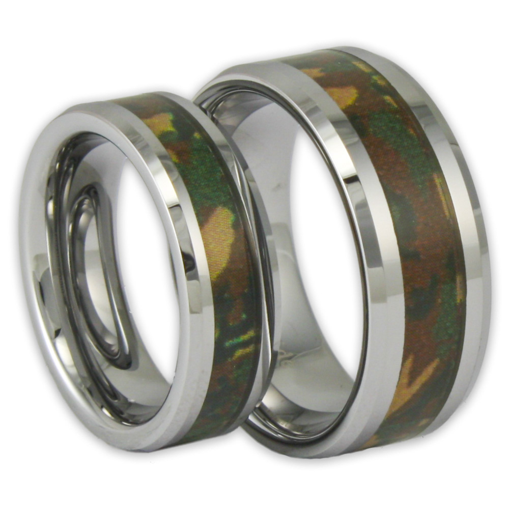 camouflage wedding rings camo pink orange mens camo wedding bands blackcamoring stone camoringscouples orangeengagement rings Find our Camo Wedding
