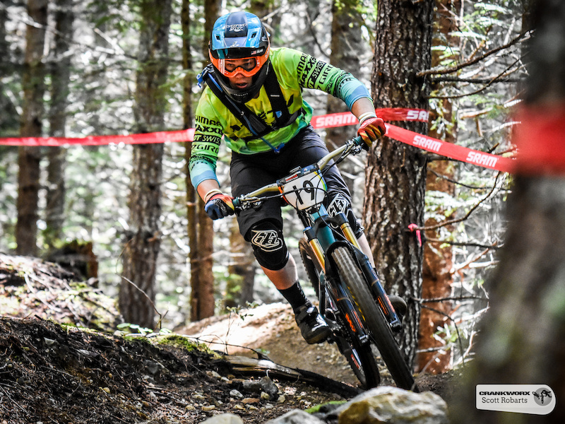 Richie Rude of the United States descends stage three of the SRAM Canadian Open Enduro Crankworx Whistler 2015. Photo by Scott Robarts .