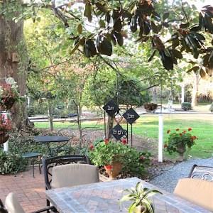 Arrowhead Inn under the magnolia tree