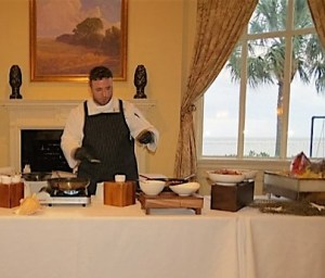 Chef James Flack at a recent cooking demonstration.