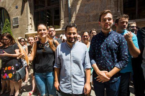 El conseller de Educació, Vicent Marzà, y el portavoz de Compromís en Les Corts, Fran Ferri | EVA MÁÑEZ