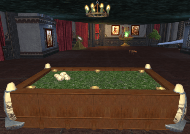 Pool Table Fish Tank A pool table and a fish tank