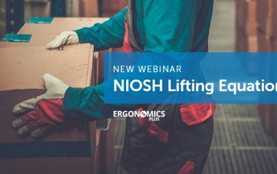 New Advanced Webinar on the NIOSH Lifting Equation