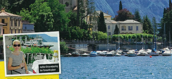 Lake Como article in Woman magazine
