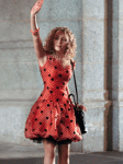 Eric Daman is costume designer of The Carrie Diaries with Annasophia Robb, dressed as Carrie Bradshaw in a vintage Scaasi dress.