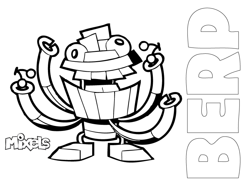 lego mixel coloring page download