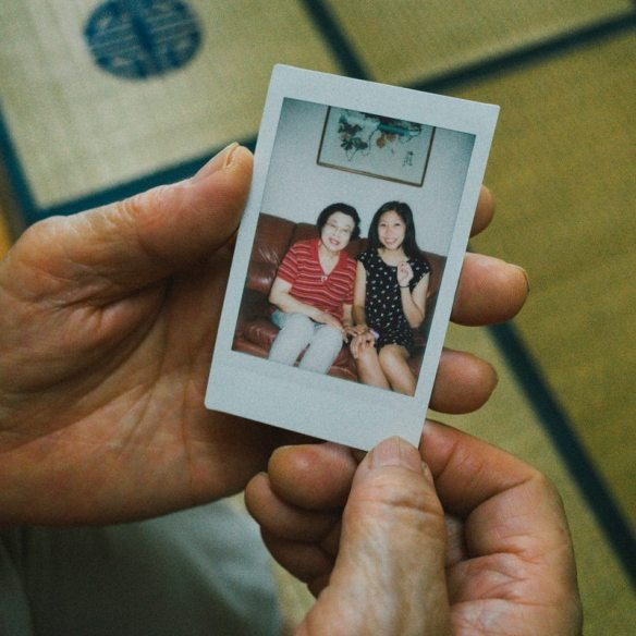 Instax of Cindy and my grandma (she turns 80 next year)