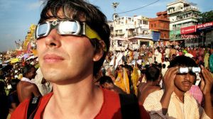 Wonders of the Solar System, Professor Brian Cox observing a solar eclipse Eclipse in India