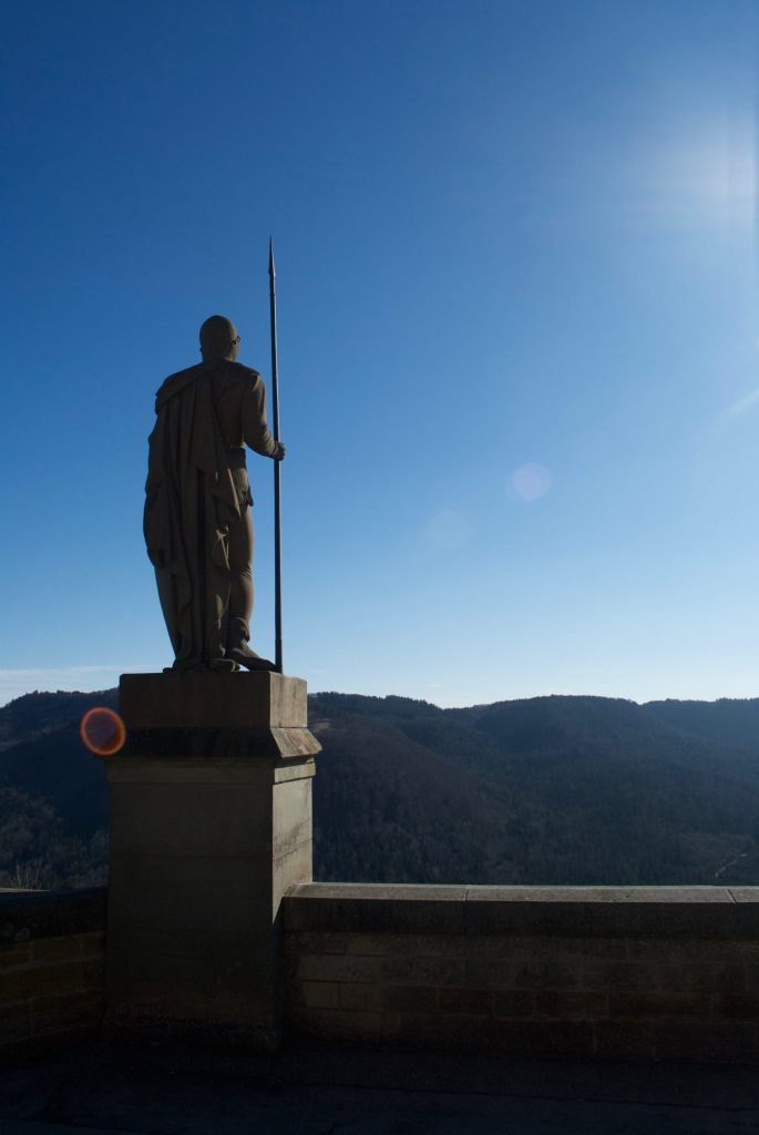 A sentinel watches out over the countryside from Burg Hohenzollern.