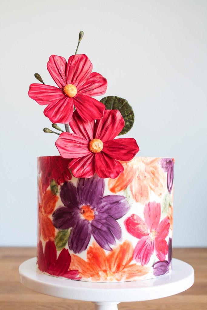 Floral Chocolate Wrap Cake | Erin Gardner | The Cake Blog
