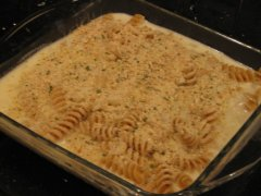 Layer with Sauce & Bread Crumbs