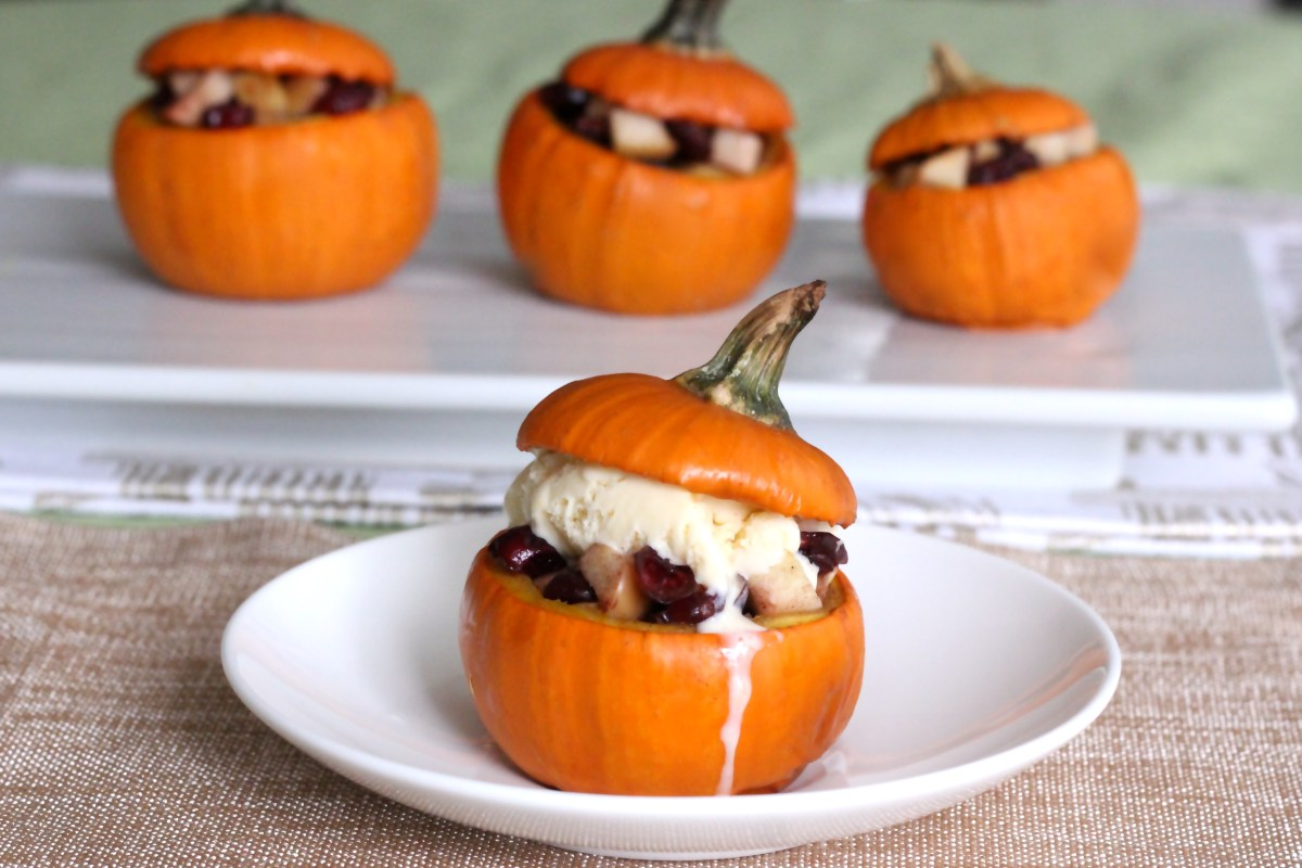 Baked Baby Pumpkins (a la Mode!)