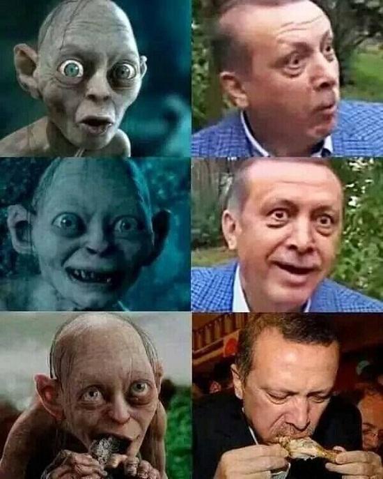 erdoğan gollum