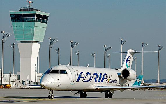 Maschine der Adria auf dem Flughafen München