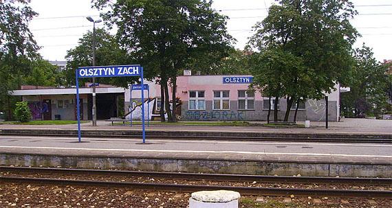 Gegenwärtiges Bild des Bahnhofs Olsztyn Zachodni