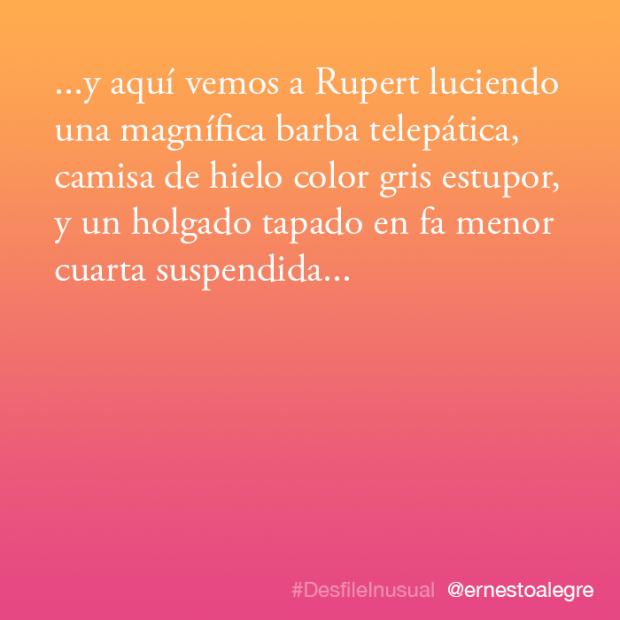 #DesfileInusual por Ernesto Alegre