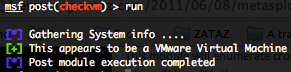 Linux checkvm post exploitation script