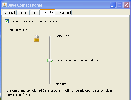 Oracle-Java-Update-21-Security-Levels