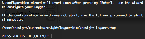ArcSight Logger configuration