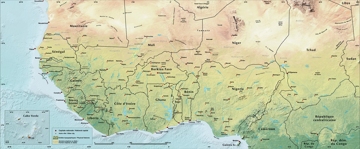 Physical Geography   West Africa Land Productivity