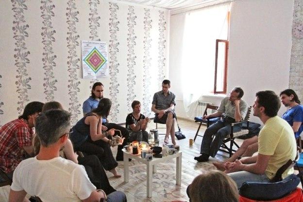 После открытой презентации Евгения Пустошкина по холосценденции (23 мая 2014)
