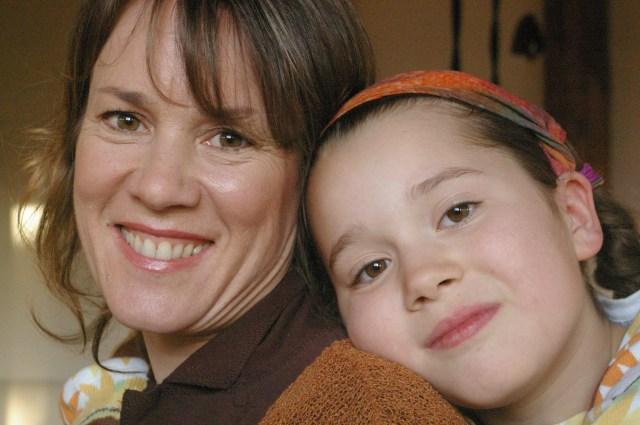 С дочерью Мириам Мэйсон Мартино, исследовательница вопросов интегрального воспитания детей