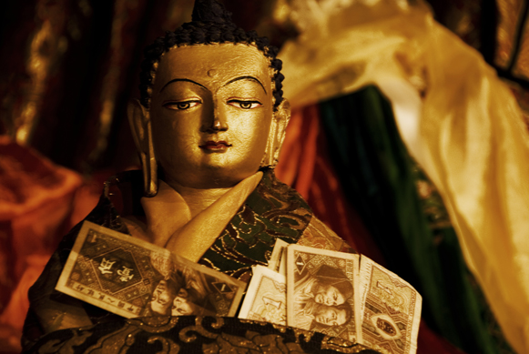 buddha and money