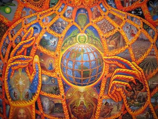 Алекс Грей. Космический Христос (фрагмент картины)