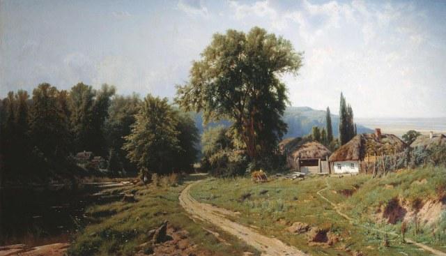 «Хутор в Малороссии», 1884, Константин Крыжицкий.