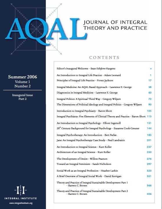 «Журнал интегральной теории и практики» — JITP Volume 1, Issue 2