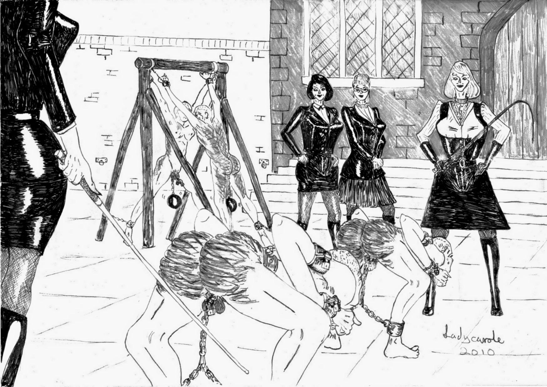 augustine bdsm femdom drawings