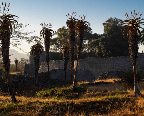 Morgen ved Great Zimbabwe