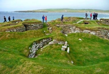 Skara Brae auf den Orkneys in Schottland