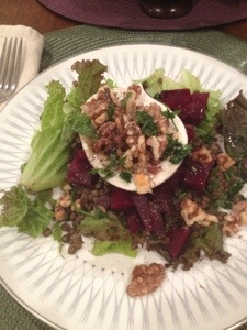 Our rendition of the composed beet salad