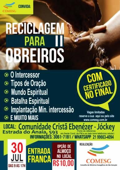 Reciclagem para Obreiros II - Comunidade Cristã Ebenézer - Jockey